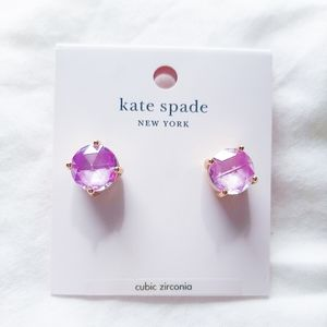kate spade lilac gumdrop earrings